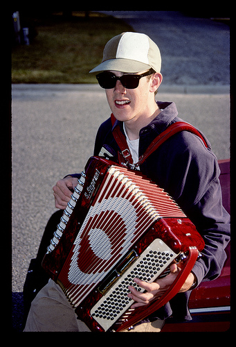 mike + accordian