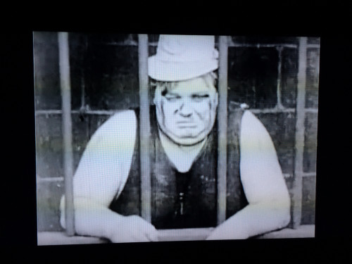 "Roscoe Conkling ""Fatty"" Arbuckle in ""Fatty Joins the Force"" (1913), directed by George Nichols and produced by Mack Sennet"