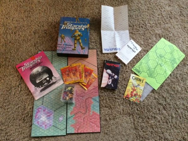 Starship Troopers: Man vs Monster, Warpwar,  Chitin I, and Steranko  Cards
