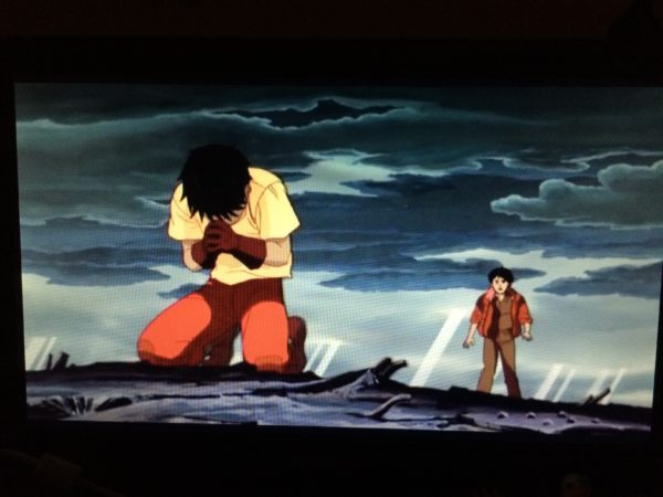 A picture of a screen of the conclusion of Akira (1988)A  picture of the screen at the conclusion of Akira (1988)