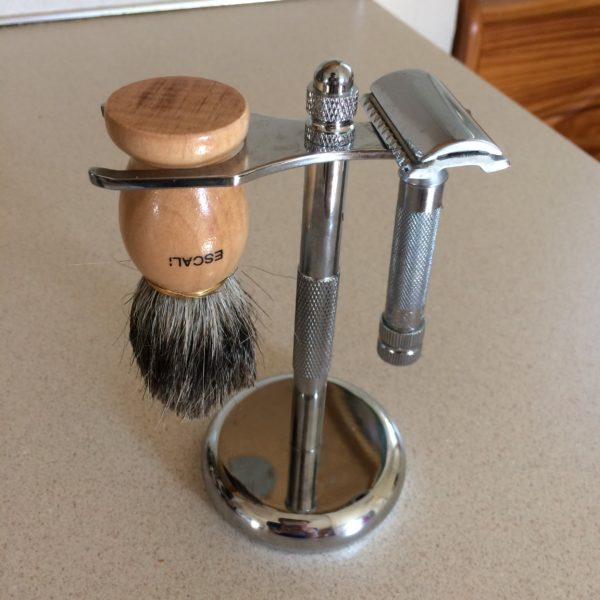 Razor, Stand, and Brush